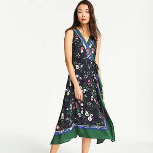 Ann Taylor Floral Border Sleeveless Dress